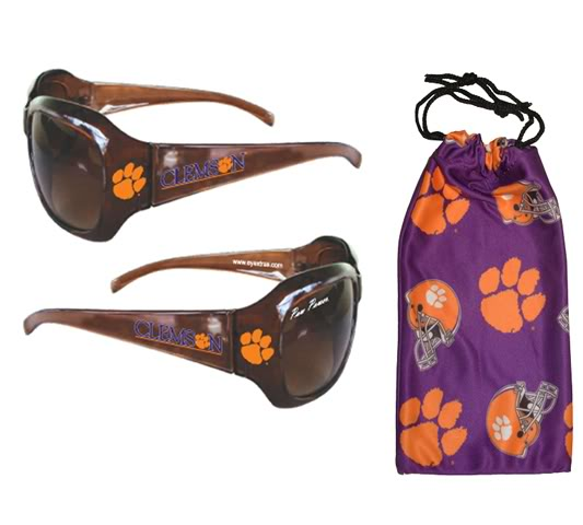Clemson Sunglass with Pouch