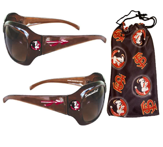 Florida St Sunglasses with Pouch