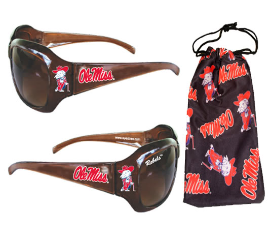 Ole Miss Sunglass + Pouch